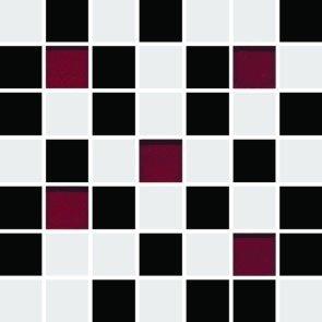 Ceramika Końskie Michelle White-Black Mosaic 20x20