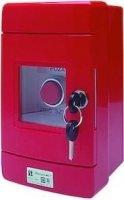 Przycisk wystający 3Z czerwony w obudowie OBC pierścień niklowany SP22-WC-30/OBC/A