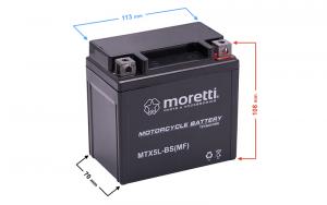 Akumulator AGM (Gel) MTX5L-BS Moretti