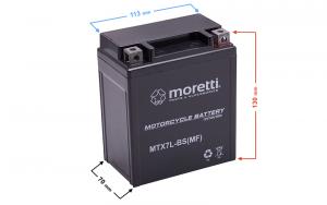 Akumulator AGM (Gel) MTX7L-BS Moretti