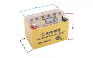 Akumulator AGM (I-Gel) MTX9-BS Moretti ze wskaźnikiem