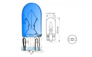 Żarówka BOSMA 12V 3W T10 BLUE (6425) OP 10 SZT