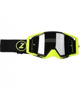 LAZER Gogle - Race Style Mirror Black - Yellow Fluo - Black (kol. Mirror Srebrny)