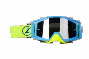 LAZER Gogle - Race Style Mirror Blue - Blue - Yellow Fluo (kol. Mirror Srebrny)