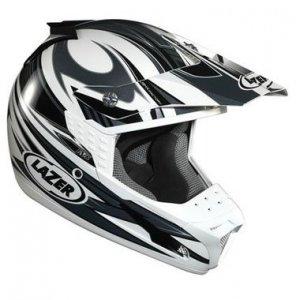 Kask motocyklowy LAZER SMX Factory biały/szary XS