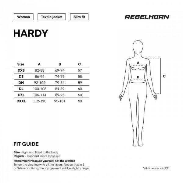 KURTKA TEKSTYLNA REBELHORN HARDY II LADY GREY/BLACK/FLO YELLOW DM