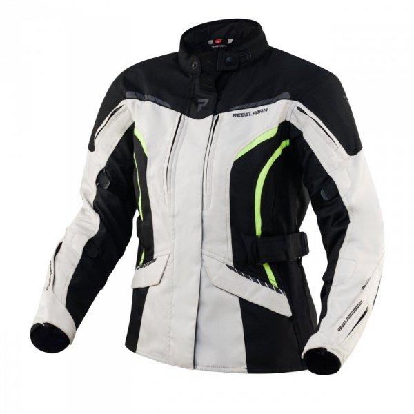 KURTKA TEKSTYLNA REBELHORN HIKER III LADY BLACK/GREY/FLO YELLOW DXS