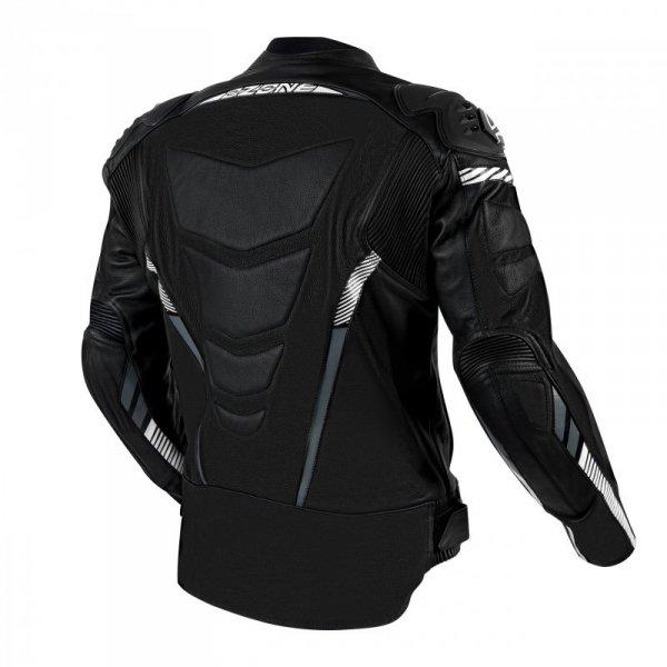 KURTKA SKÓRZANA OZONE RS600 BLACK/WHITE 56 56(XXL)