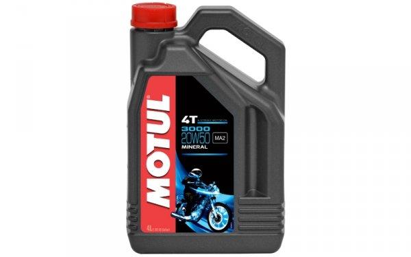 Olej silnikowy MOTUL 3000 4T 20W50 4L
