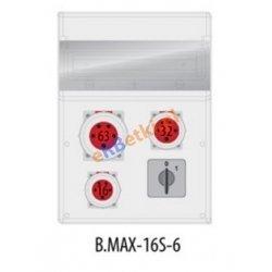 Rozdzielnica MAX BOX-16S 63A/5p,16/5,32/5 wył.0/1, IP65