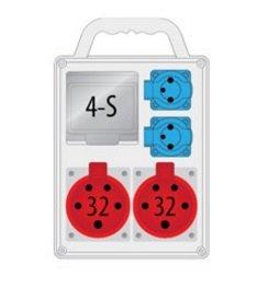 Rozdzielnica R-BOX SLIM 4S 2x32A/4p, 2x230V, IP44