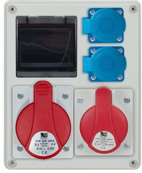 Rozdzielnica R-BOX 240R 4S 1x32A/5p, 1x16A/5p, 2x230V, puste okno, IP44 B.1701R