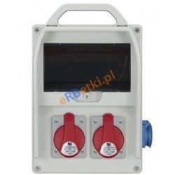 Rozdzielnica R-BOX 300R 9S 2x16A/5p, 1x230V, zabezp. 2xM.01-B16/3, 1xM.01-B16/1, IP44