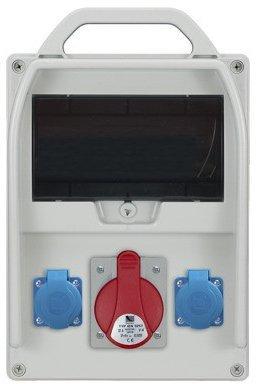 Rozdzielnica R-BOX 300 9S 1x32A/5p, 2x230V, puste okno, IP44