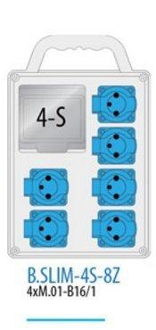 Rozdzielnica R-BOX SLIM 4S 6x230V zabezp. 4xM.01-B16/1, IP44