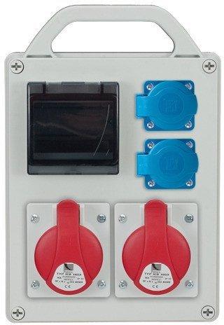 Rozdzielnica R-BOX 240R 4S 2x16A/4p, 2x230V, puste okno, IP44