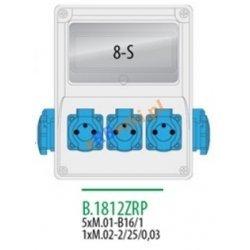 Rozdzielnica R-BOX 240 8S 5x230V, zabezp. 5xM.01-B16/1, 1xM.02-2/25/0,03, IP44