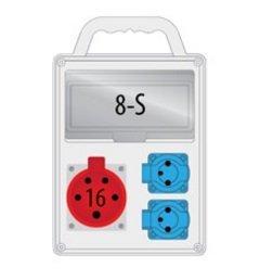 Rozdzielnica R-BOX SLIM 8S 1x16A/5p, 2x230V, IP44