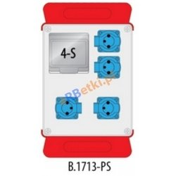 Rozdzielnica R-BOX 240 4x230V puste okno, podstawa stalowa (komplet 2 szt.), IP44