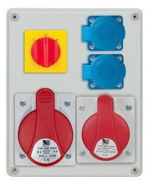 Rozdzielnica R-BOX 240 1x32A/4p, 1x16A/4p, 2x230V, wył. (L/P), IP44