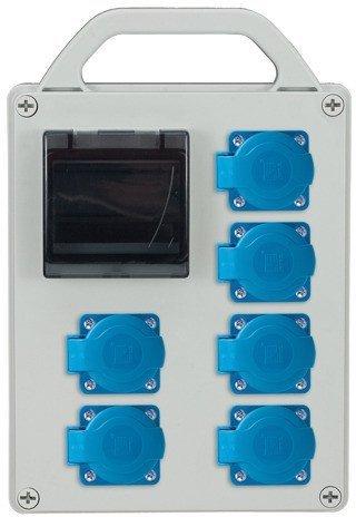 Rozdzielnica R-BOX 240R 4S 6x230V, puste okno, IP44