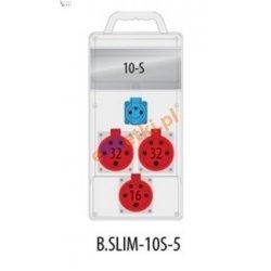 Rozdzielnica R-BOX SLIM 10S 2x32A/5p, 1x16A/5p, 1x230V zabezp. 2xM.01-B32/3, 1xM.01-B16/3, 1xM.01-B16/1, IP44