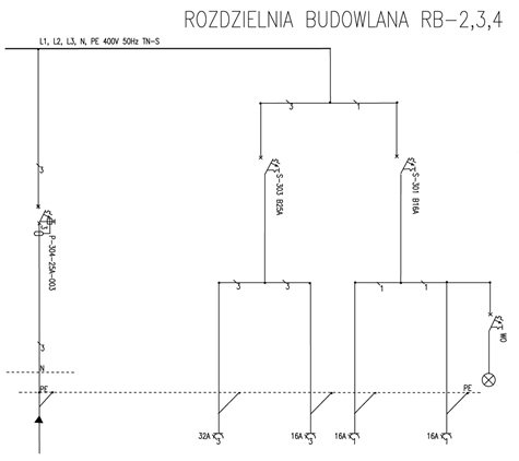 Rozdzielnica Budowlana RB - 4/25A