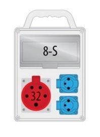 Rozdzielnica R-BOX SLIM 8S 1x32A/4p, 2x230V, IP44