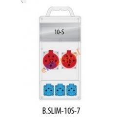 Rozdzielnica R-BOX SLIM 10S 1x16A/5p, 1x32A/5p, 3x230V zabezp. 1xM.01-B32/3, 1xM.01-B16/3, 1xM.02-4/40/0,03, IP44