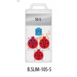 Rozdzielnica R-BOX SLIM 10S 2x32A/5p, 1x16A/5p, 1x230V zabezp. 1xM.01-B32/3, 1xM.01-B16/3, 1xM.02-4/40/0,03, IP44