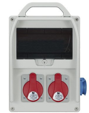 Rozdzielnica R-BOX 300 9S 2x16A/5p, 1x230V, puste okno, IP44