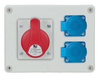 Rozdzielnica R-BOX 190 1x32A/5p, 2x230V, IP44