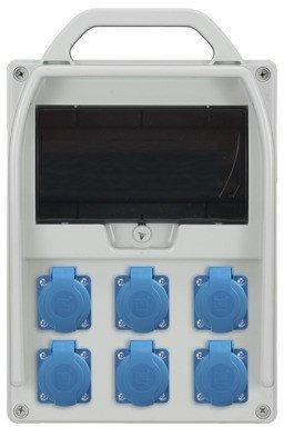 Rozdzielnica R-BOX 300 9S 6x230V, puste okno, IP44