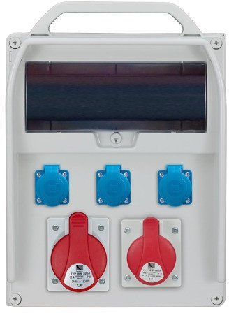 Rozdzielnica R-BOX 13 1x32A/5p, 1x16A/5p, 3x230V, zabezp.różn.prąd B32/3,B16/3,3xB16/1,4/40/0,03 IP 44