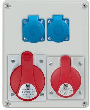 Rozdzielnica R-BOX 240 1x32A/5p, 1x16A/5p, 2x230V, IP44