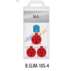 Rozdzielnica R-BOX SLIM 10S 2x16A/5p, 32A/5p, 1x230V, IP44