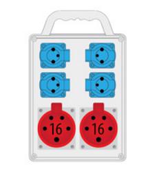 Rozdzielnica R-BOX SLIM 2x16A/5p, 4x230V, IP44