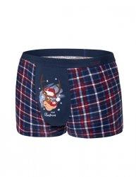 Bokserki Reindeer 007/57 Granatowe Merry Christmas