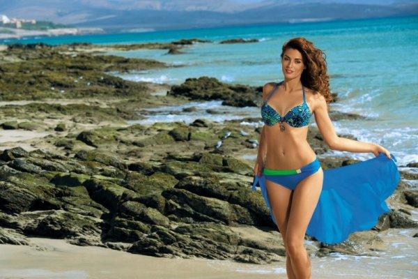 Kostium kąpielowy Audrey Surf M-320 niebiesko-zielony (202)
