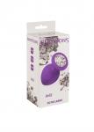 Plug-Anal Plug Emotions Cutie Large Purple clear crystal