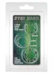 STAY HARD - THREE RINGS - CLEAR