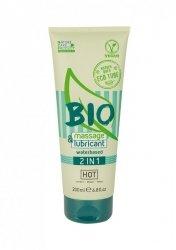 Żel-HOT BIO massage & lubricant waterbased 2in1 200 ml
