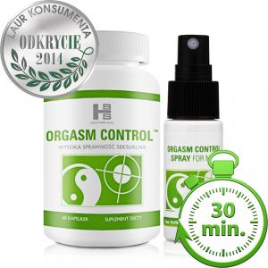 ORGASM CONTROL  60tab + Spray pełny zestaw opóźnia wytrysk