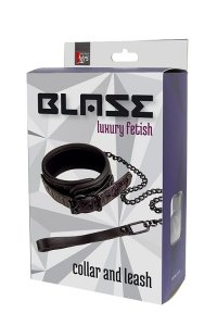 Wiązania-BLAZE COLLAR AND LEASH PURPLE