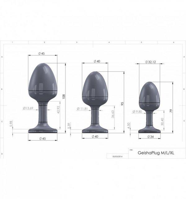 Buttplug Marc Dorcel - Geisha Plug Ruby M V2