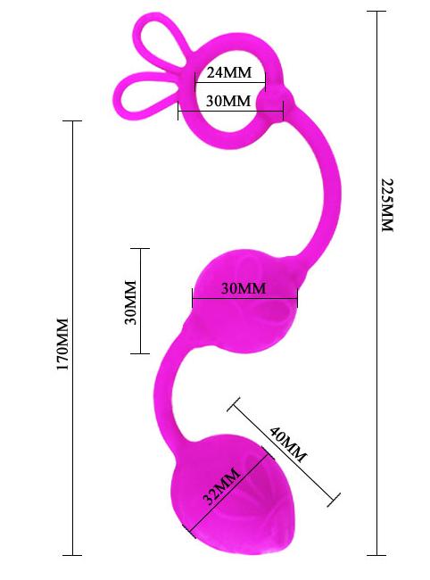 Hipoalergiczne kulki analne Silikon Medyczny