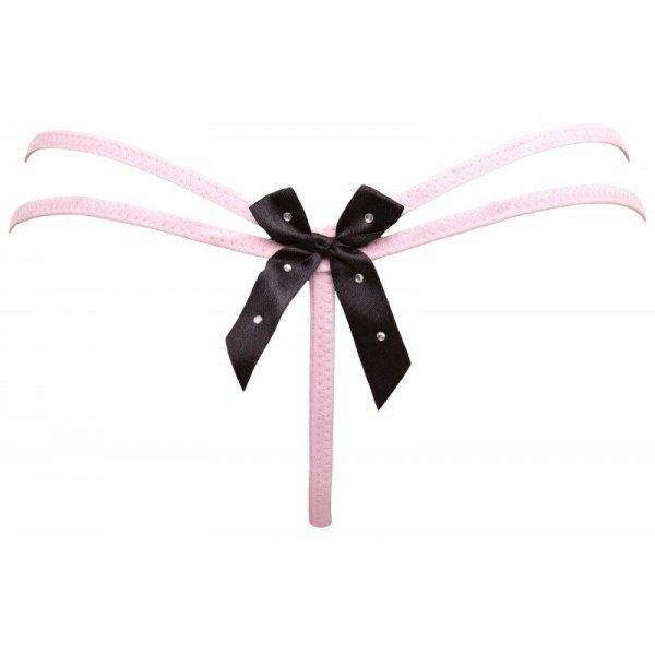 Marianne Pink  Stringi Różowe S/M