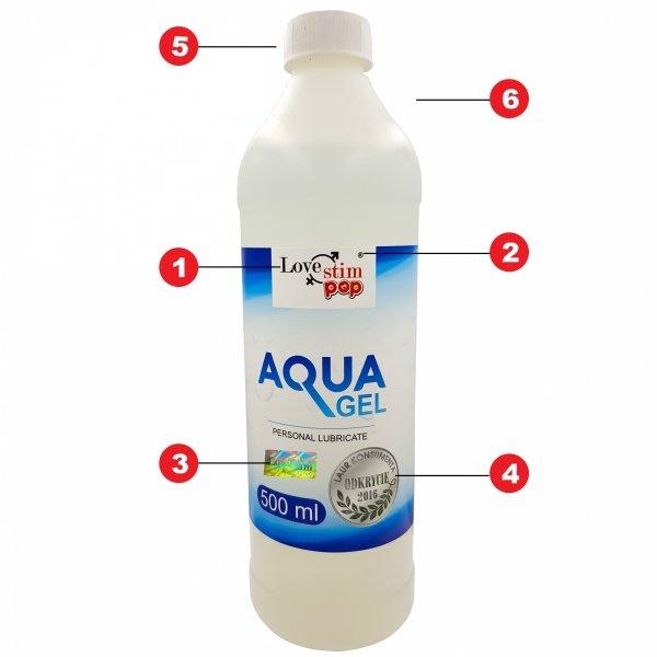 Aqua Gel 500ml lubrykant intymny uniwersalny