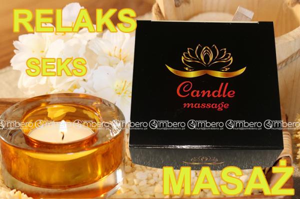 Zapachowa świeca do zmysłowego masażu aż 70ml