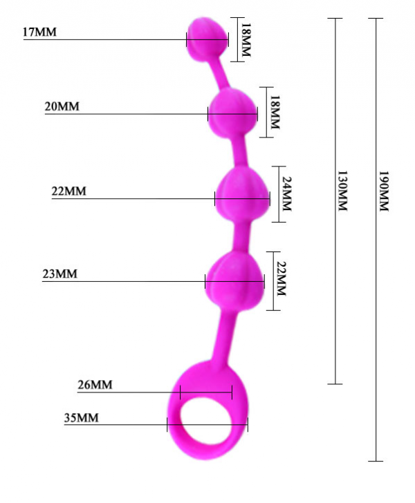 Hipoalergiczne koraliki analne Silikon Medyczny